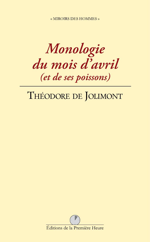 T. de Jolimont - Monologie du mois d'avril